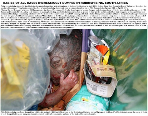 BABY DUMPED IN RUBBISH SPRINGS ADVERTISER APRIL2011