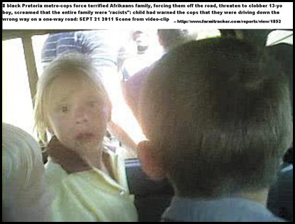 MARAIS FAMILY VIDEO CLIP SCENE OF INCIDENT THEY WERE FORCED OFF ROAD BY PRETORIA COPSsept212011