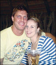 McCusker Kim and fiancee Lourens Grobler SHE WAS DRAGGED 700M BY TAXI Sept132011
