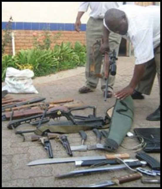 RATTE FARM confiscated items described as WEAPONS OF MASS DESTRUCTION by ANC were farm implements and carpentry tools BALMORAL