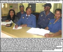 ROSEBANK two female cops left and right were shot by SAPF clerk David Kekana 1 Aug2011