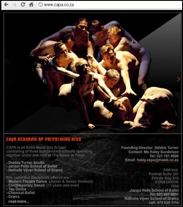CAPE DANCE COMPANY NEO CLASSICAL SOUTH AFRICA