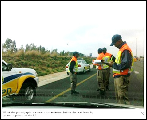 KEMPTON PARK METRO COPS_2_ FINE FEMALE MOTORIST WHO ASKED FOR THEIR HELP SEPT22 2011
