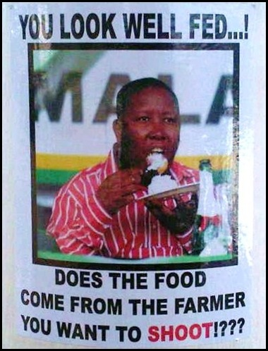 KILL THE FARMER MALEMA LOOKS WELL FED