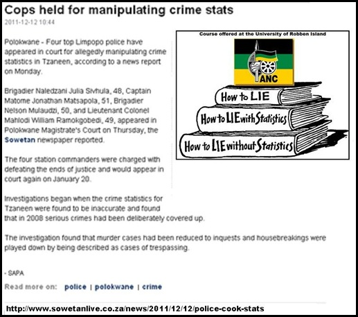 cops arrested for cooking crime statistics Sowetan Dec 12 2011