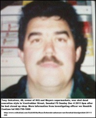 GONCALVES Tony dec52011 owner HiQ Meyers super shot dead in kombi SENEKAAL Voortekker Street
