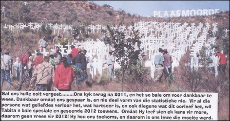 PLAASMOORDE MESSAGE FOR 2012 FROM LITA FOURIE AT TABITA