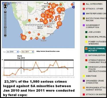SAPS criminality against minorities Jan2010 to Dec 2011