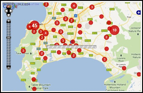 WESTERN CAPE CRIME MAP TARGETTING WHITES FARMITRACKER DEC112011 FROM JAN12010