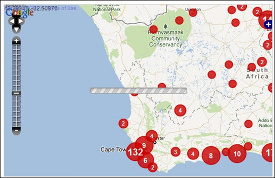 WEST-NORTHCOAST CAPE CRIME MAP WHITE VICTIMS OF BLACK CRIMINALS FARMITRACKER DEC102011 FROM JAN12010