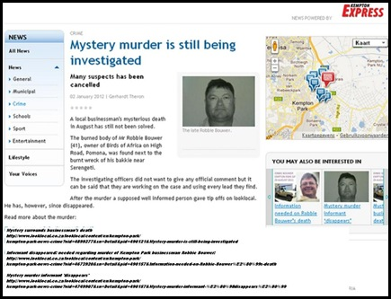 BOUWER ROBBIE P2 MURDER ARTICLE JAN22012