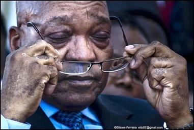 Zuma SA president juli 2011 ernstige ziekteverschijnselen vooral huid