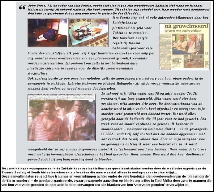 TABITA LITA CROSS FOURIE PARENTS TORTURED TO DEATH SHE FOUNDED TABITA DUTCH ARTICLE