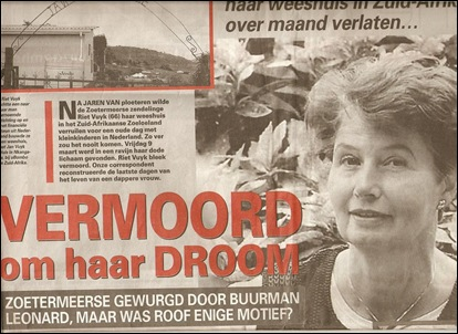 Vuyk Riet murder P1 TELEGRAAF Mar232012 by Joel Roerig critical of authorities