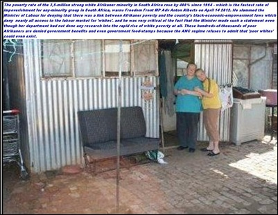 Afrikaner poverty increased by 400 percent worse than any other group in SA April152012