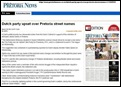 DUTCH PARTY UPSET OVER PRETORIA STREET NAMES CHANGES Pretoria News Mar292012