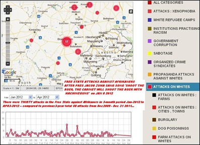 Free State Attacks from Jan2012 AFTER ZUMA SONG up to April 13 2012