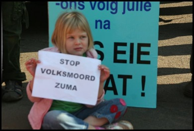Afrikaner 5Demo Against Farm Murders Verkenners May312012