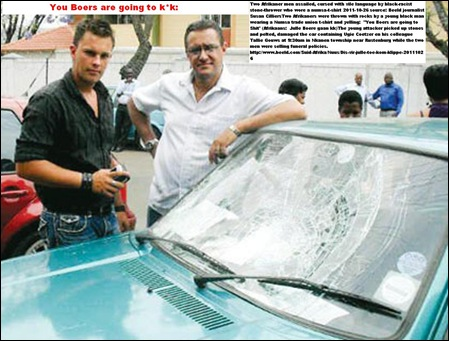 BOERS ATTACKED _GOUWS TALLIE, COETZER UGIE CHASED FROM TOWNSHIP YOU BOERS ARE GOING TO KAK