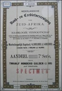 NEDBANK DUTCH SHARE NR 1909
