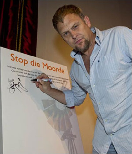 HOFMEYR STEVE STOP FARM MURDERS CAMPAIGN WITH AFRIFORUM AUG 29 2012