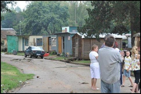 Afrkaner poor squatter camp many new arrivals pitch tents KRUGERSDORP SUNETTE BRIDGES JULY 2 2012 FB