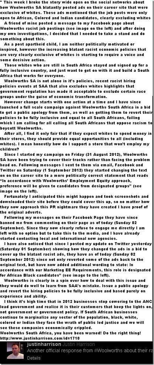 WOOLWORTHS BEE EMPLOYMENT STATEMENT JPG