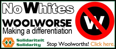 WOOLWORTHS BOYCOT CAMPAIGN BECAUSE OF NO WHITES HIRING RULE