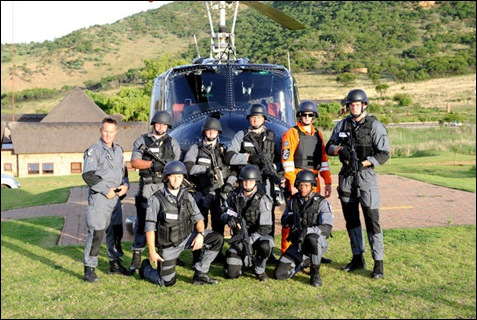 DE DOORNS HELIVAC SECURITY GROUP CHOPPER CREW DE DOORNS