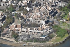 ST FRANCIS AERIAL PIC DAMAGE LUXURY HOMES TORCHED NOV122012