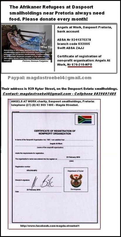 AFRIKANER POOR SQUATTER CAMP DASPOORT MANY NEW ARRIVALS FEB182013