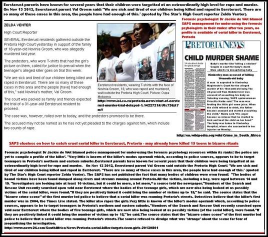 EeersterustColouredChildrenTargetedBySerialKillerSAPSforensicExpertsSayAug12013