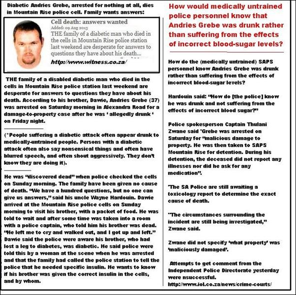 GrebeAndries37ArrestedForNoGoodReasonDiesInPoliceCellKZNAug82013large