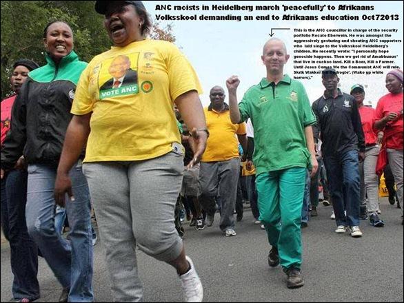 AfrikanerVolksskoolHeidelbergUnderSiegeFatRacistBlacksAndOneWhitePratOct72013