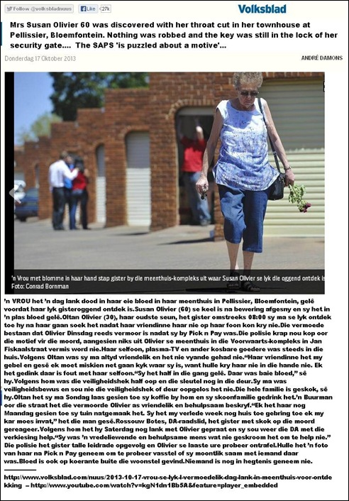 OlivierSusan60ThroatCutNothingRobbedTownhousePellissierBloemfonteinOct162013
