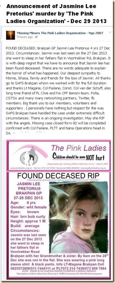 PretoriusJasmineLee4FoundMurderedAnnouncedPinkLadies29Dec7am
