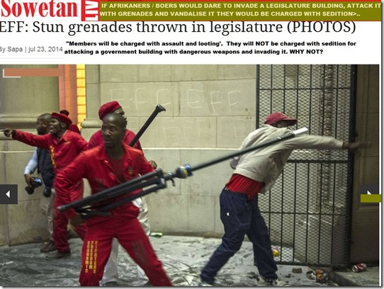 EFF2000MembersAttackGautengLegislatureGrenadesWeaponsNotChargedWithSedition